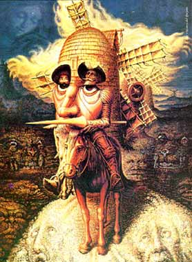 illusion hidden faces optical dali illusions salvador painting face paintings artwork quixote don spanish them artist surrealist several quijote many